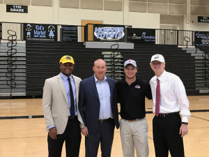 Damon Wright, Coach Shawn Raney, Will Mullins, & Hunter Howell at the Spring 2017 Signing Ceremony