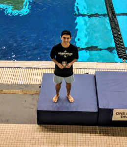 Zachary El-Fallah - 2nd Place 1 mt Diving