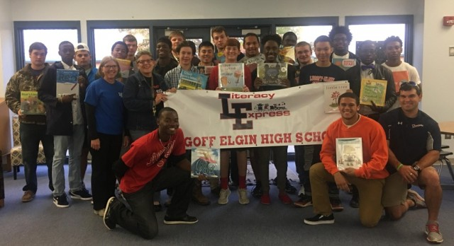 Real Men Read goes to Doby's Mill
