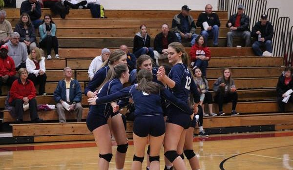 Girls Volleyball Advance to MHSAA District Championship Game