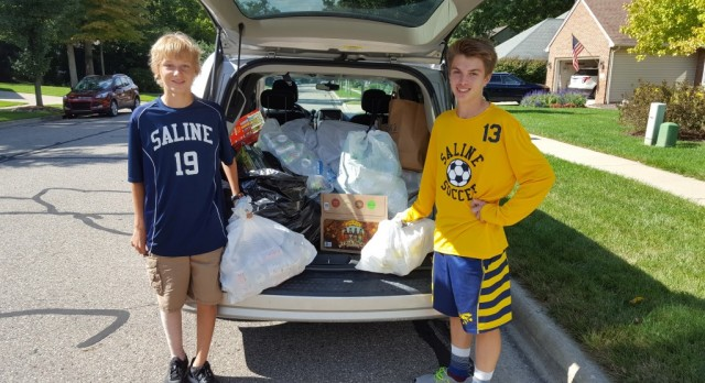 The Saline Post: Saline Soccer Can and Bottle Drive Raises More than $4,000