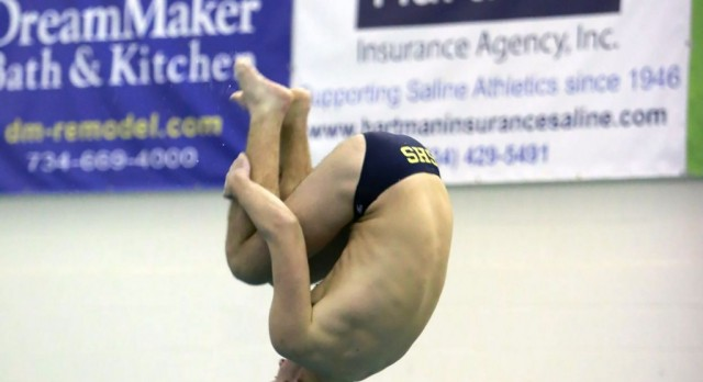 The Saline Post: Hurbis Sets School Diving Record as Hornets Win Home Opener