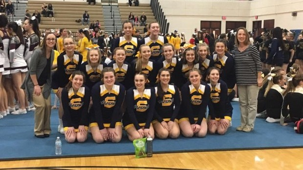 MLive: Saline cheer named Ann Arbor News Team of the Week