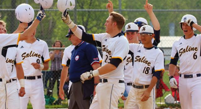 The Saline Post: Sean O'Keefe Ties Saline Baseball Home Run Record