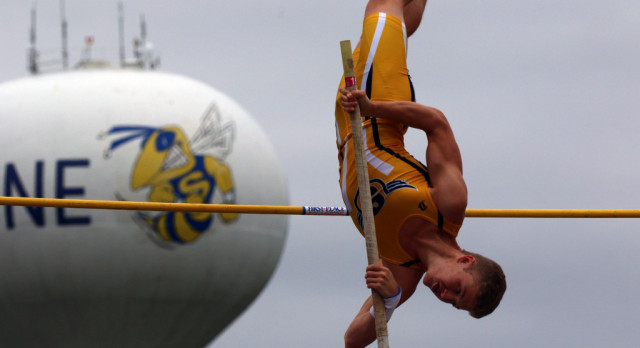 The Saline Post: Harris Aims High: Saline Pole Vault Record Holder Shooting for State Championship