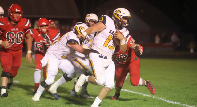 The Saline Post: Saline Announces SEC Red Intentions With 31-7 Victory at Bedford