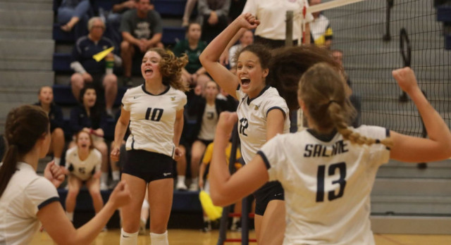 The Saline Post: VOLLEYBALL: Shorthanded Saline Falls To SEC Rival Bedford