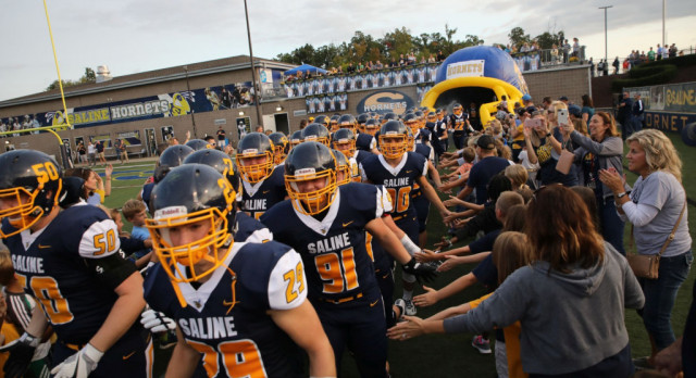 The Saline Post: GALLERY: Saline Dominates Huron to Win 3rd Straight Game