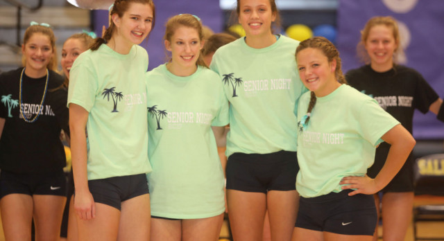 The Saline Post: Saline Volleyball Sweeps Skyline on Senior Night