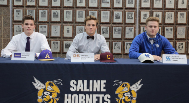 The Saline Post: 3 Saline Baseball Players Commit to College Teams