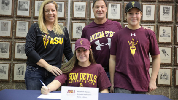 spears college signing family