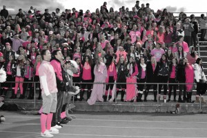 Pink crowd--bw-small