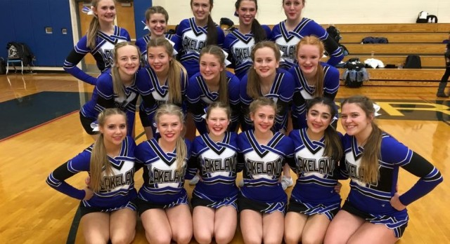 Lakeland High School Girls Varsity Competitive Cheer finishes 2nd place