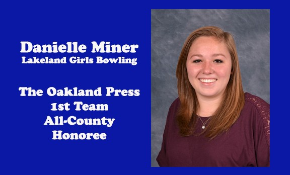 Danielle Miner earns 1st Team All-County Bowling honors