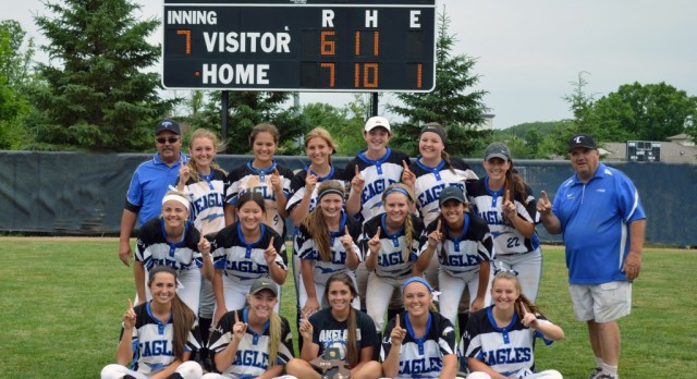 Softball team wins District Title, winning twice in final at-bat