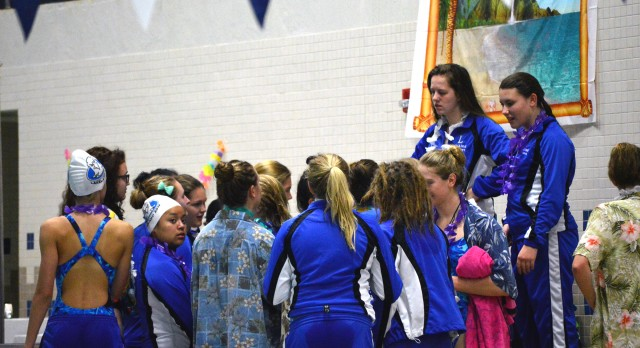 Lakeland High School Girls Varsity Swimming beat Waterford United 147-47