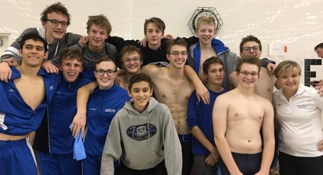 Lakeland High School Boys Varsity Swimming finishes 6th place