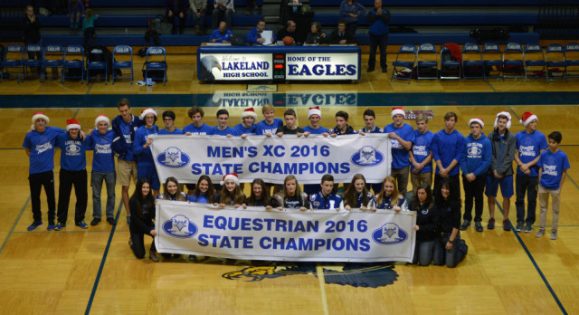 Lakeland State Champions recognized at basketball games