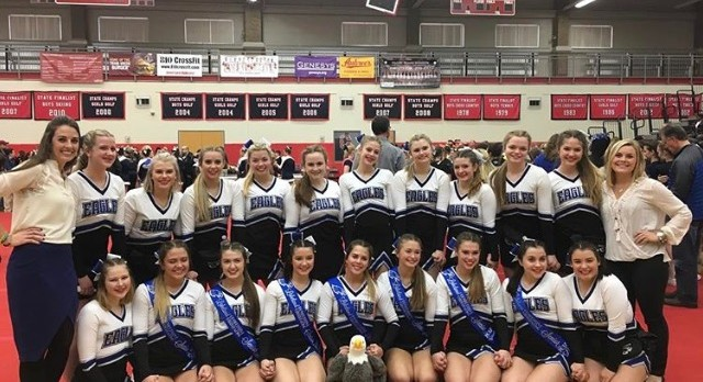 Lakeland High School Girls Varsity Competitive Cheer finishes 9th place