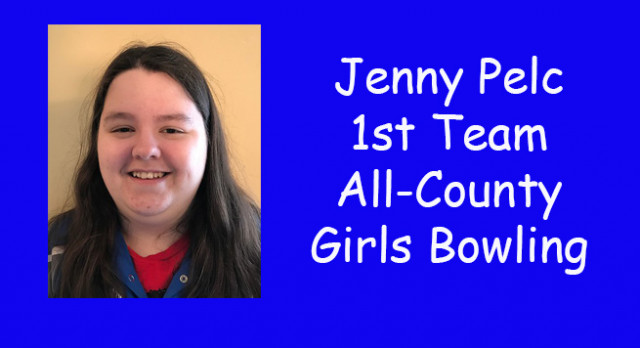 Jenny Pelc earns All-County honors for bowling