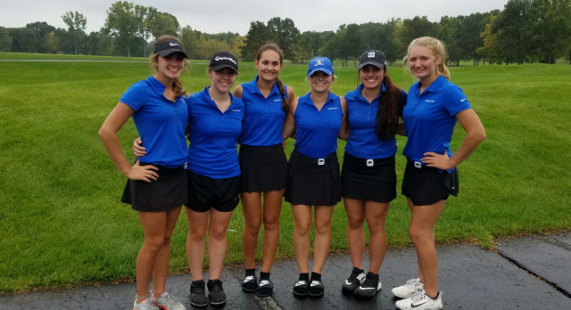 Lakeland High School Girls Varsity Golf beat Milford High School 200-203