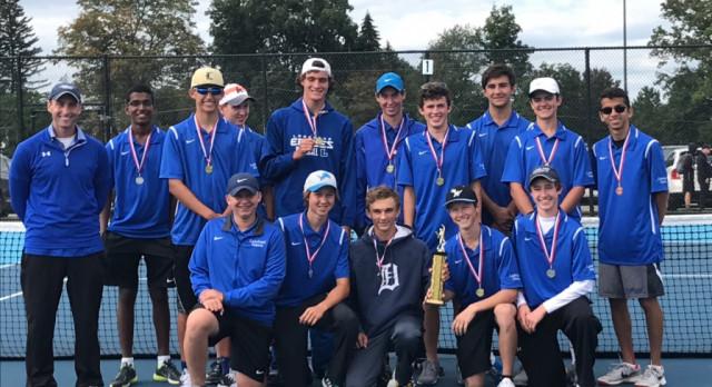 Lakeland High School Boys Varsity Tennis finishes 1st place