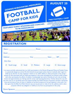 Wirgoski Camp Registration