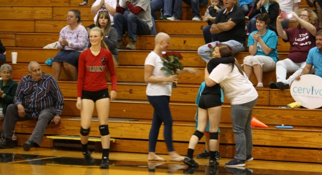 Volleyball Drops Matches with Mississinewa on Cervivor Night