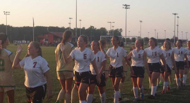 Girls Soccer Ties Eastern