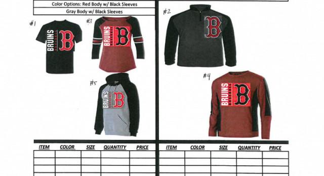 Baseball Apparel Order (through Nov 1)