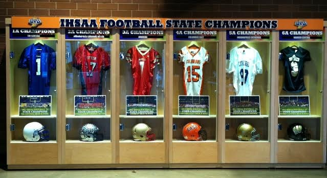 Lucas Oil Stadium Spotlights New State Champion Display Case