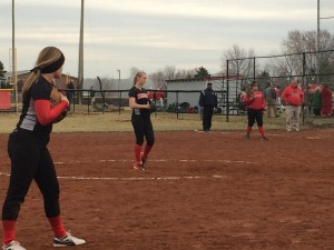 Samantha Heim on the mound for the Lady Raiders.