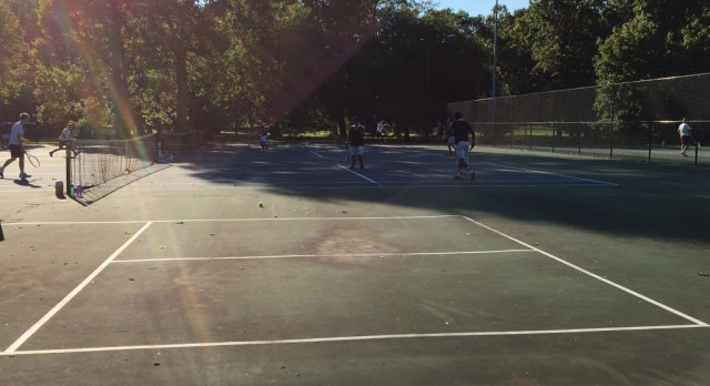Boys Tennis Competes In City Tourney