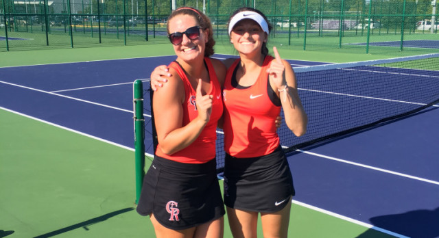 #1 Doubles Advance In Sectional Tennis