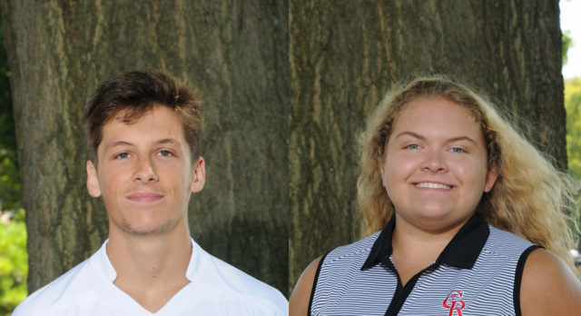 Athletes Of The Month Knight And Esterline