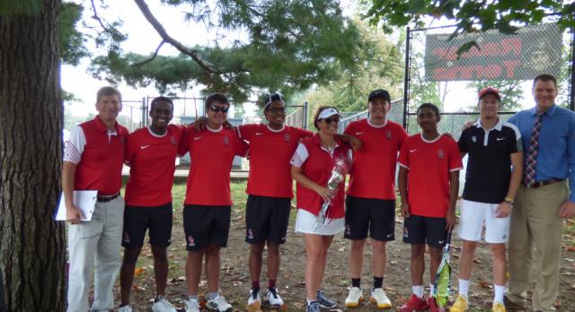 Tennis Wins On Senior Night