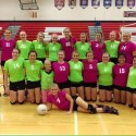 Varsity Volleyball Pink & Green