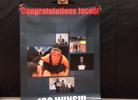Jacob Bosley earns 100th career wrestling victory