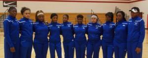 2015-16 Lady Wildcats Varsity Volleyball: (L-R) Chrisshay Lewis, Erika Slade, Janie Moore, Traviyona Kelly, Kamarie Mason, Keshundra French, Argentina Sugars, Tiffany Hector, Shyla Porter, Kiana Harris