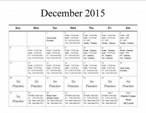 December Practice Schedule (1)