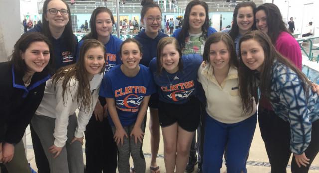 Girls Swim Team Places 7th at Pattonville Invite!