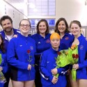 Girls Swim Senior Night 2017