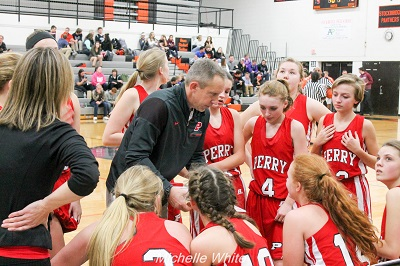 Perry High School Girls Junior Varsity Basketball beat Ionia High School 35-30