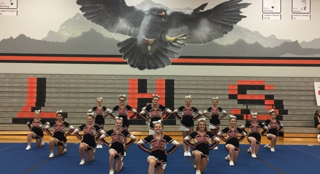 Perry High School Girls Varsity Competitive Cheer finishes 4th place