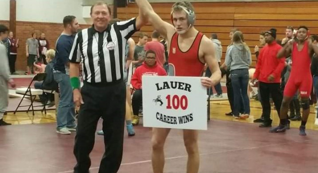 Congrats on 100 wins to Kolton Lauer