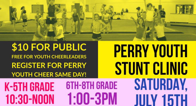 Perry Youth Cheer registration HAPPENING NOW!