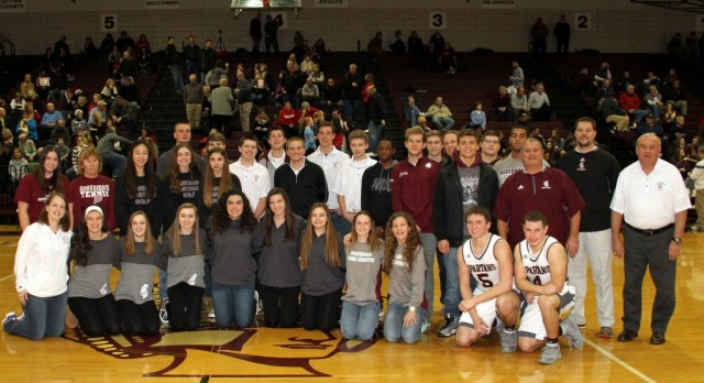 Fall All-AAC Athletes Honored At Boys Basketball Game