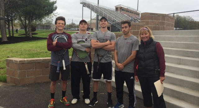 Boys Tennis Seniors Honored at Home Meet