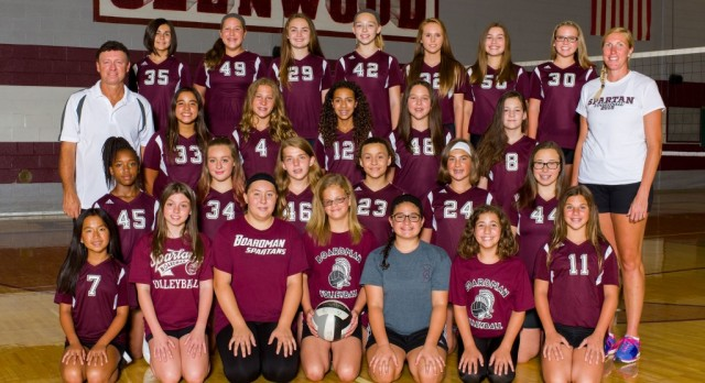 Glenwood Junior High 7th Grade Volleyball Teams In AAC Tournament