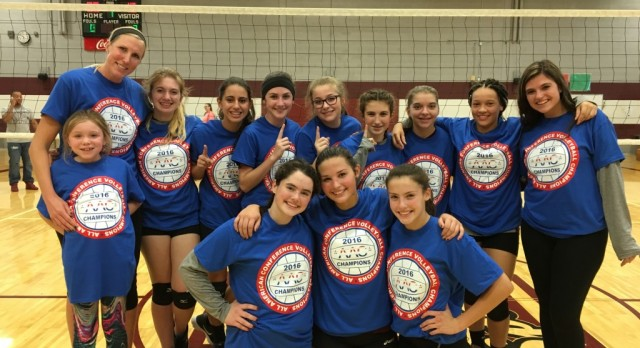 Congratulations to the Glenwood Jr. High 8th Grade White Volleyball Team – AAC Red Tier Champions